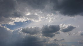 Rain clouds, timelapse stock footage