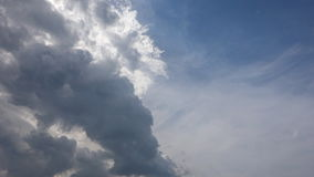 Rain clouds, timelapse stock video footage