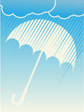Rain Clouds Umbrella Blue Vector Background Royalty Free Stock Photos