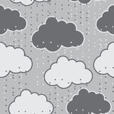 Rain clouds vector seamless background abstract Royalty Free Stock Photos