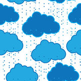 Rain clouds vector seamless background abstract Stock Images