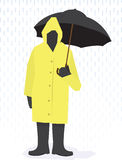 Rain Coat Man Stock Image
