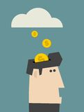 Rain of coins. Stock Images