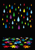 Rain color Stock Image