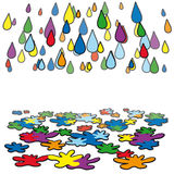 Rain color Royalty Free Stock Images