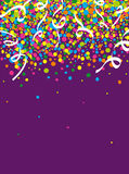Rain of colorful confetti. At the party Royalty Free Stock Photo