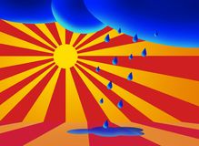 After Rain Comes the Sun. An illustration symbolizing the coming of the sun after the rain Stock Photos