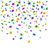 Rain of confetti Royalty Free Stock Photography