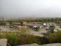 Rain is continue. In afghanistan this year is a lot of rain during spring  it made all people happy Stock Photography