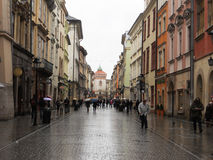 Rain in cracow Royalty Free Stock Photo
