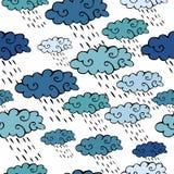 Rain. Cute seamless pattern. Royalty Free Stock Photography