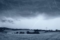 Rain and dark sky Stock Images