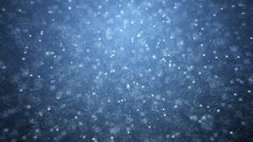 Rain on darkly blue background. Falling raindrops stock video footage