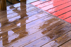 Rain on deck Stock Photography