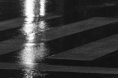 Rain. Details, streets in night under rain, Madrid, Spain Royalty Free Stock Photos