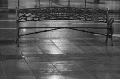 Rain. Details, streets in night under rain, Madrid, Spain Royalty Free Stock Images