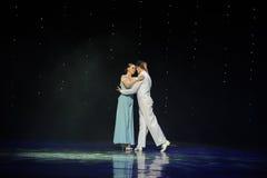 In the rain-doga waltz-the Austria's world Dance Royalty Free Stock Photography