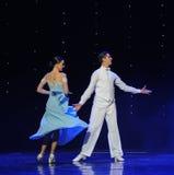 In the rain-doga waltz-the Austria's world Dance Stock Images