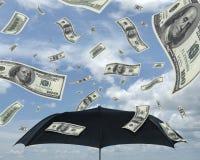 Rain of dollars stock images