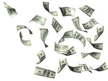 Rain from dollars Royalty Free Stock Image