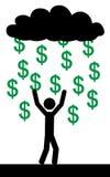 Rain with dollars Stock Photos