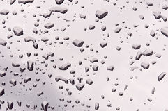 Rain drop background. Rain drop on the car background Stock Images