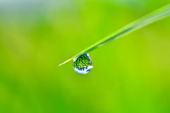 Rain Drop and bokeh Royalty Free Stock Photo