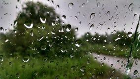 Rain. Drop of rain on car glass Stock Image