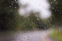 Rain drop on car window Royalty Free Stock Photos