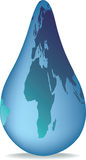 Rain drop earth Royalty Free Stock Photo