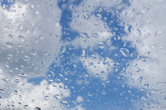 Rain drop on glass Royalty Free Stock Image