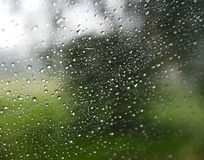 Rain drop on glass Royalty Free Stock Images