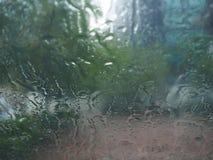 Rain drop. Heavy rain drop on windshield Stock Photos