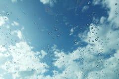 Rain drop on mirror Stock Photo