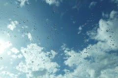 Rain drop on mirror Royalty Free Stock Photo