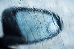 Rain Drop On Car S Window Stock Photo