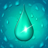 Rain Drop Represents Showers Drip And Wet Royalty Free Stock Photos