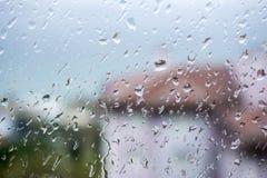 Rain Drop. On The Window Stock Photography
