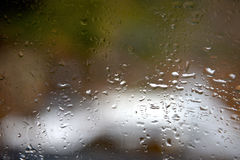 Rain drop on window Stock Image