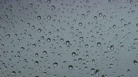 Rain drop on window stock video