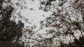 Rain drop on the window. Lonely blackground with rainny season Royalty Free Stock Photography