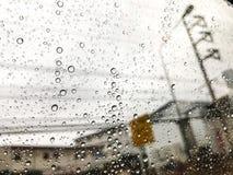 Rain drop in the window Stock Photos