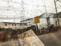Rain drop in the window Royalty Free Stock Photos