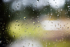 Rain drop on window Royalty Free Stock Images