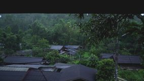 Rain Droplet From the roof country.  stock footage