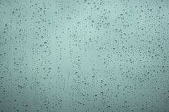Rain droplets in a window Royalty Free Stock Photo