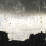 Rain droplets in a window Stock Images