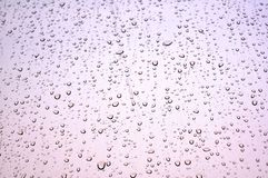 Rain dropped window Stock Image