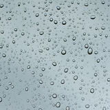Rain drops. Water drops on glass surface Stock Photos