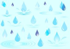 Rain drops. Vector illustration of water drops royalty free illustration